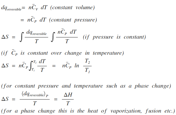 relationship between enthalpy entropy and equilibrium constant
